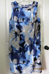 Jessica blue print dress, size 18