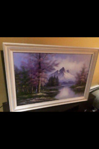 River Upon the Mountains Painting