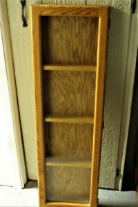 Oak plate display cabinet