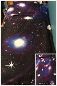 Twin Galaxy duvet cover and matching pillow case