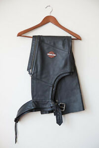 Harley Davidson Leather Chaps Ladies X-Small..Like New