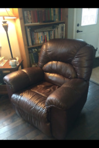 Mesa Brown Leather Recliner