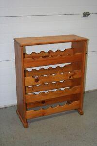Solid Pine Wine Rack St. John's Newfoundland image 1