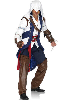 Adult Men's Assassin's Creed Connor Video Game Outfit Adult Halloween Costume
