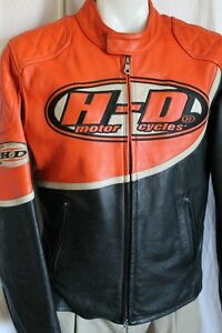 HARLEY DAVIDSON MEN SPEED LEATHER JACKET RACING LARGE