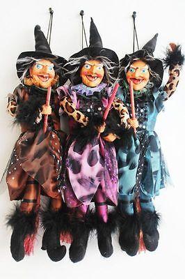 Hexe,45 cm,hängend,sitzend,Faschingsdekoration,Hexenfiguren,Hexen,Deko,Halloween