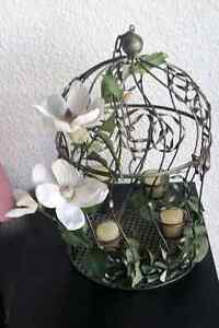 Hanging candle bird cage