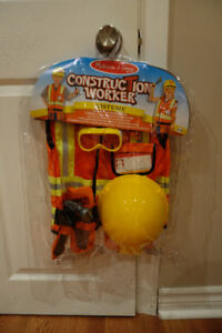 Melissa & Doug Construction Worker Role Play Costume-brand new