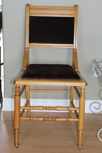 Antique Chair  (sturdy & like new upholstery )