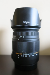 SIGMA 18-250mm F3.5-6.3 DC (OS) Macro HSM for Canon DSLR