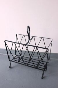 Vintage Metal Retro Magazine Rack
