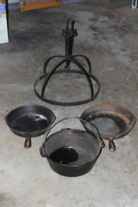 Antique Cast Iron Pot Hanger and more...