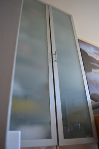 IKEA PAX WARDROBE – ARMOIRE with FROSTED GLASS DOOR