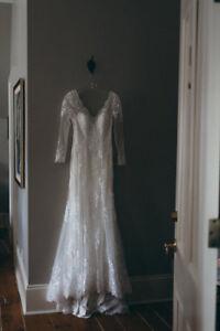 Magnifique robe de mariée boho-chic COMME NEUVE!!!