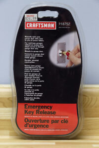 EMERGENCY KEY RELEASE FOR GARAGE DOOR OPENERS