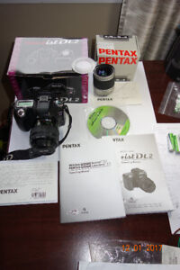 Pentax ist DL2 DLSR Digital Camera with two lens
