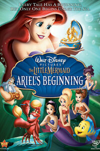 The little mermaid Ariel's beginning dvd