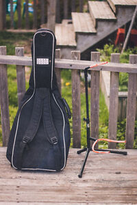 Guitar case and Guitar stand combo