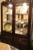 Hutch with cabinet