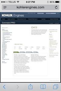 13 HP Kohler side shaft motor Kitchener / Waterloo Kitchener Area image 4