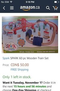 Brand new in box wooden train set London Ontario image 2