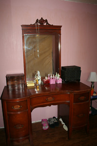 Antique hardwood dressing table (vanity)  Unique! Good condition