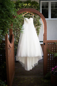 Strapless Sweetheart Lace Up Wedding Dress