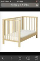 Ikea 2 in 1 crib used just 2 months