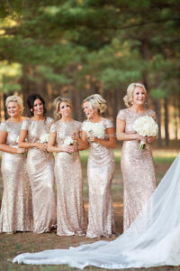 Rose Gold Prom/Formal/Bridesmaid Dress Windsor Region Ontario image 2