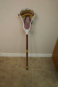 Harrow Lacrosse Stick with Gait Head - KW Braves Colours