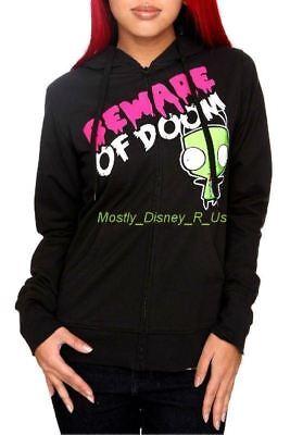 New Invader Zim Gir Beware Of Doom Jacket Hoodie Hoody Juniors Sizing (Invader Zim Hoodie)