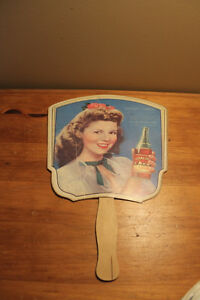 Vintage RC Cola Advertising Fan - Shirley Temple