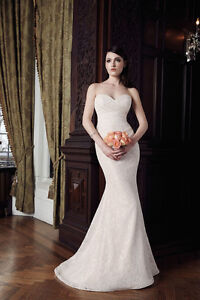 Gorgeous Mikaella Lace Wedding Dress - NEVER WORN!