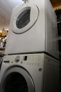 LG front load washer and dryer pair