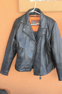 Ladies Leather Motor Cycle Jacket And Chaps