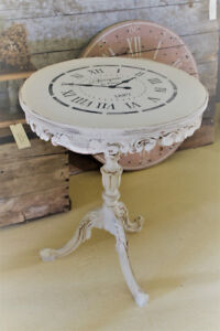 SOLD--ANTIQUE OCCASIONAL TABLE, REFINISHED, FRENCH COUNTRY