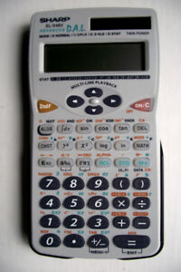 calculatrice SHARP el 546V neuve + 2 piles neuves + mode emploi