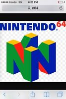 Looking for these N64 Games! Please contact me