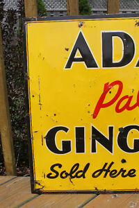 TWO 1940's Adanac Ginger Ale Signs London Ontario image 8