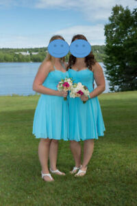 Teal Bridesmaid Dresses - size 12