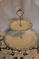 TWO TIERED CAKE STAND