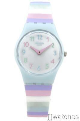 New Swatch Originals Lady PASTEP Stripes Silicone Petite Watch 25mm LL121 $65