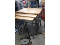 Beech furniture, nest of tables, side tall table, DVD stands