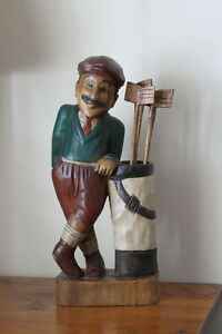 Golf figure, door stop