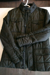 Zara Mens Quilted Olive Green - Size Medium