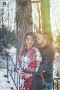 Winter engagement photo session