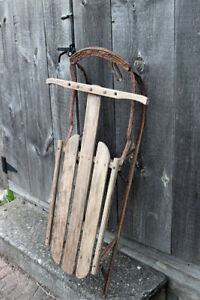 Antique / Vintage Sled with Metal Runners
