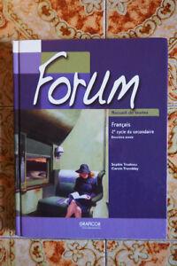 Forum (secondaire 4) Recueil