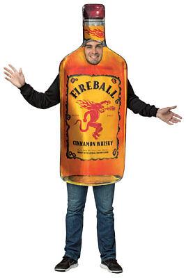 Fireball Whisky Bottle Costume (Fireball Whiskey Halloween Costume)