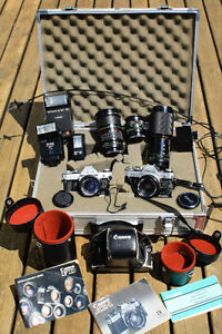 Canon AE-1 with Lenses